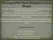 2.The Expert PhD Thesis Writing Services in Bhopal