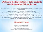 4.We Knows the Expectation of Delhi Students from Dissertation Writing