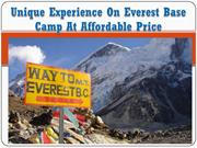 Unique Experience On Everest Base Camp At Affordable Price