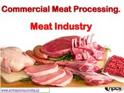 Commercial Meat Processing. Meat Industry