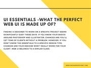 UI essentials -What the perfect Web UI is made up of