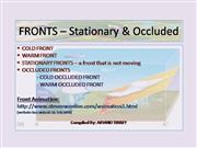FRONTS - Stationary - Occluded