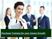 Purchase Training for your Career Growth