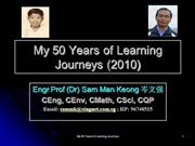 My 50 Years of Learning Journeys