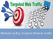 Methods to Buy Targeted Website Traffic