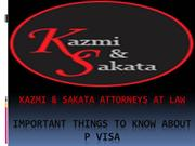 Important Things to Know About P Visa