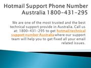 Hotmail Support Phone Number Australia 1800-431-295