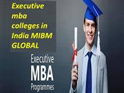 Online MBA courses from Executive mba colleges in India
