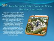 Fully Furnished Office Spaces in Noida