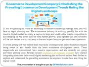 Ecommerce Development Company Embellishing the Prevailing Ecommerce De