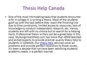 Thesis Help Online Canada