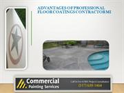 Advantages of Professional Floor Coatings Contractor MI