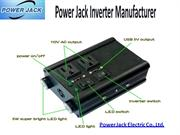Get Smart Power Inverters at Leading Supplier- Power Jack Electric