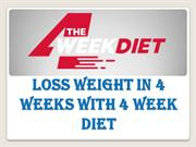 how to lose weight in 4 weeks