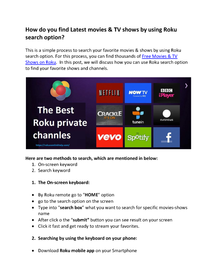 Find Latest Movies & TV Shows by Using Roku Search Option |authorSTREAM