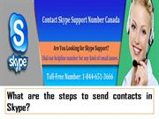 Skype SupportWhat are the steps to send contacts in Skype