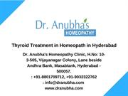 Dr.Anubha-Thyroid Treatment in Homeopathy in Hyderabad