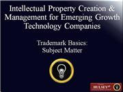 02-Trademark Basics Subject Matter