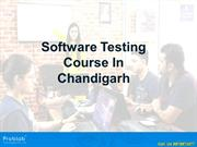 Software testing course in chandigarh