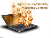 Signs of a Good Internet Marketing Company