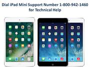Dial iPad Mini Support Number 1-800-942-1460 for Technical Help