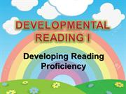 DEVELOPMENTAL READING I