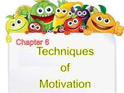 techniques of motivation