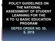 Final-DepEd ORDER No. 55 s. 2016