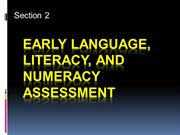 Early Language, Literacy, and Numeracy Assessment