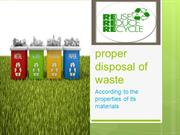 proper disposal of waste