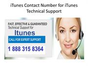 iTunes Contact Number for iTunes Technical Support phone number