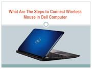 What Are The Steps to Connect Wireless Mouse in Dell Computer