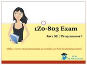 Exact Oracle Exam 1Z0-803 Dumps - 1Z0-803 Real Exam Questions Answers