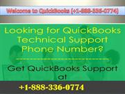 +1-888-336-0774 Quickbooks Technical Support