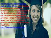 Online Distance MBA Degree in India in the MBA Program