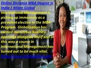 MBA Online Distance MBA Degree in India
