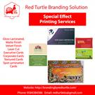 Special effect printing services by Redturtle branding