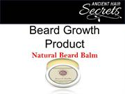 Natural Beard Balm | Effectual Beard Growth Product for Grooming