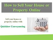 How to Sell Your House or Property Online