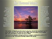 Thousand Islands - From a Chain-flier
