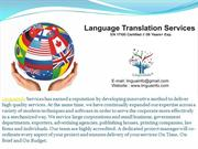 Best Language Translation Services Company In India And Worldwide