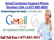 Gmail Customer Care Number USA +1-877-885-4824