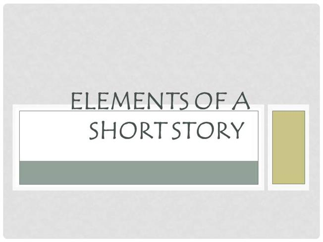 what are the elements of the short story