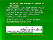 Top 5 Second hand cars for sale in CA