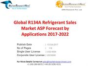 Global R134A Refrigerant Sales Market ASP Forecast by Applications 201