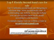 Top 5 Second hand cars for sale in FL