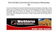 Hire the Best Commercial Contractors Milwaukee Wi
