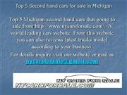 Top 5 Second hand cars for sale in MI