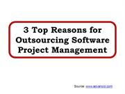 3 Top Reasons for Outsourcing Software Project Management