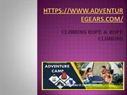 Rope Climbing & Rappelling Rope